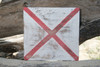 """V"" NAUTICAL RUSTIC FLAG 8' X 8' - WOOD PANEL - NAUTICAL DECOR"