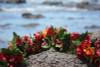 "Special Bougainvillea w/ Hibiscus 18"" - Hawaii Silk Leis"