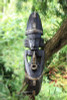 "TRIBAL TIKI MASK PIPE SMOKER 20"" - TROPICAL DECOR"