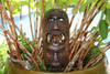 "FIJIAN TIKI MASK W/ 2 DEITIES - 12"" EVIL HUNTER - POLYNESIAN ART"