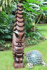 "Tiki God Temple Image 48"" - Stained Hawaii Museum Replica 