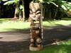 "Natural Tiki God Ku 40"" - Premium Monkey Pod - Hawaii Heritage"