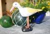 """""""SEAGULL BIRD"""" - RUSTIC YELLOW COASTAL 14"""" - GARDEN/HOME DECOR"""