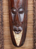"PRIMITIVE WARRIOR FRAMED TIKI - 20"" X 45"" - TROPICAL HOME DECOR"