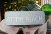 """LIFE IS GOOD AT THE BEACH"" COASTAL SIGN 14"" - RUSTIC WHITE & BLUE - NAUTICAL DECOR"