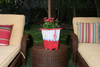 "PLANTER NAUTICAL DECOR 12"" - RED & WHITE NAUTICAL DECOR"