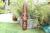 "FIJIAN TIKI MASK W/ TURTLE & GECKO - 40"" - HAWAIIAN DECOR"