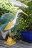 """""""EGRET BIRD"""" - RUSTIC YELLOW COASTAL 14"""" - GARDEN/HOME DECOR"""