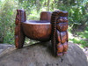 """Scorpion Tiki Bowl 12"""" Stained - Wooden Hand Carved"""