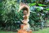 "Tiki Goddess Pele - 20"" Hand Carved Replica - | Fire"