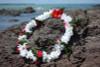 """Lei Pikake w/ Rose White & Pink 18"""" - Hawaiian Silk Leis"""