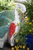 """EGRET BIRD"" - RUSTIC RED COASTAL 14"" - GARDEN/HOME DECOR 2"