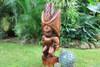 "Ku Kona-Style Tiki 48"" - Stained - Traditional Hawaii Museum Replica"