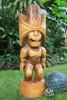 "Ku Kona-Style Tiki 48"" - Natural - Traditional Hawaii Museum Replica"