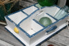 """DIVIDER TRAY 6 SECTIONS 16"""" - BLUE NAUTICAL DECOR"""