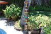 "Quadruple Headed Tiki Mask 60"" - Hand Painted"