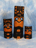 "Set of 3 Happy Tiki Masks 20"", 12"", 8"" Smiley Tiki 