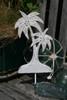 """WHITE PALM TREE"" HANGER - RUSTIC COASTAL 12"" - COASTAL DECOR"