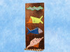 """""""FISH & SEA SHELL"""" RELIEF - 12"""" CARVED & PAINTED - OCEANIC ART"""