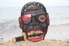 "PIRATE HEAD W/ KNIFE WALL PLAQUE 12"" - PIRATE DECOR"
