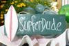 """SURFER DUDE"" SURF SIGN 14"" - COASTAL DECOR"