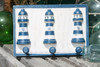 """LIGHTHOUSE"" HANGER - RUSTIC BLUE NAUTICAL 12"" - NAUTICAL DECOR"
