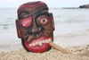 """ALL GOOD"" PIRATE HEAD W/ CIGAR WALL PLAQUE 12"" - PIRATE DECOR"