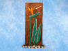 """BIRD OF PARADISE"" RELIEF - 20"" CARVED & PAINTED - OCEANIC ART"