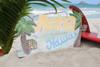 """ALOHA, HAWAII"" VINTAGE PALM SIGN 20"" - TROPICAL DECOR"
