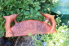 "Aloha Sign w/ Carved Dolphins 12"" - Tropical Decor 