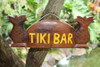 "WELCOME SIGN ""TIKI BAR"" W/ PINEAPPLE - DARK STAIN"