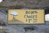 """""""BEACH CHAIRS, $1 Per Day"""" BEACH SIGN 14"""" - BEACH DECOR"""