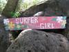 "DECOR , HAWAII DECOR - VINTAGE HAWAII ""SURFER GIRL"" ROXY TIKI DECOR SIGN - 39"" - ISLAND DECOR"