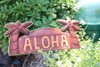 "WELCOME SIGN ""ALOHA"" W/ PALM TREES & ROPE - NAUTICA"