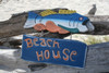"""BEACH HOUSE"" BEACH/COTTAGE SIGN 15"" - NAUTICAL DECOR"
