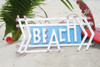 """BEACH"" SIGN 22"" WEATHERED STYLE - BEACH/COTTAGE DECOR"