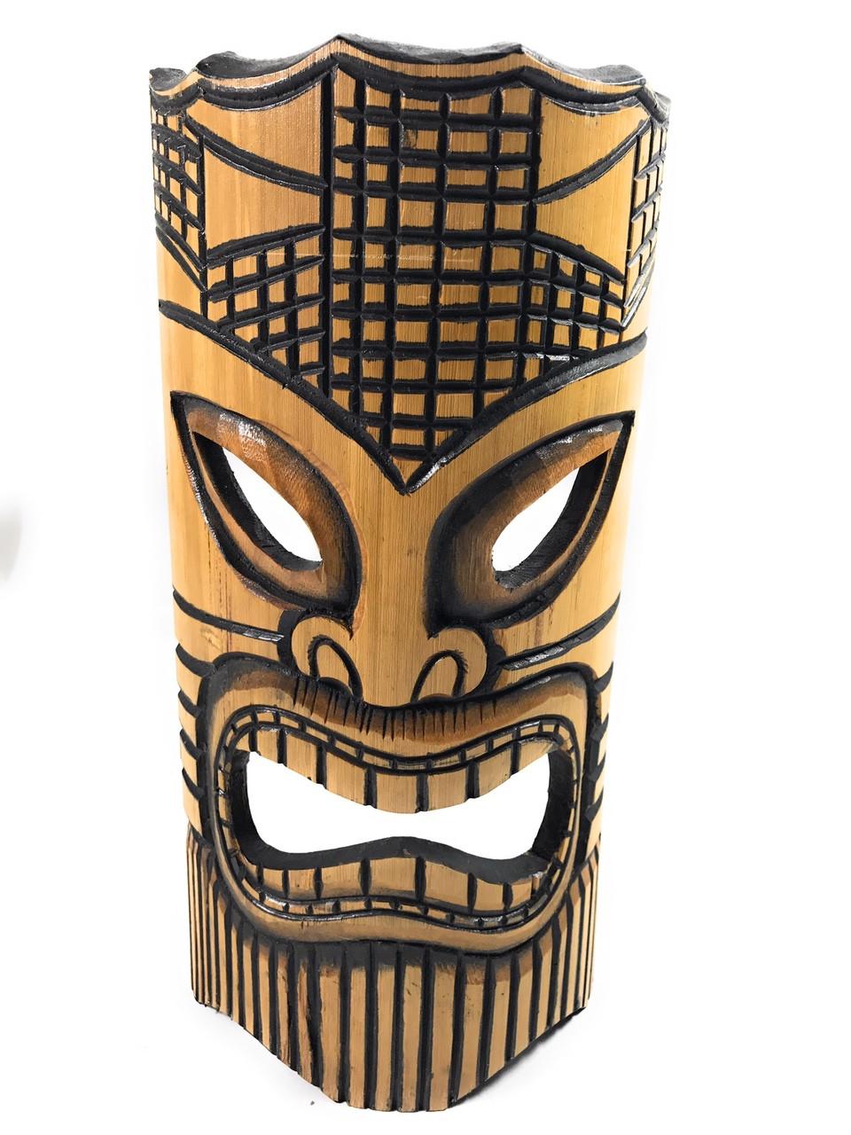 "Happy Bamboo Tiki Mask 12"" | #dpt509630 - TikiMaster.com"