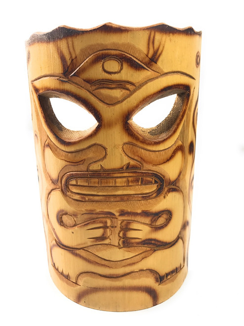 Strength Bamboo Tiki Mask 7"