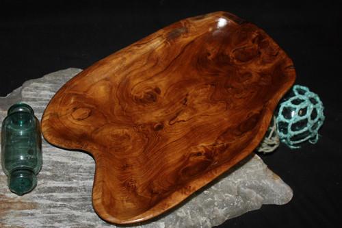 "Rustic Wooden Tray 13""X9""X2"" Teak Root | #HWA124"