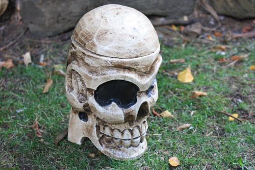 "Standing Skull 9"" X 5"" Keepsake Box - Skull Decor"