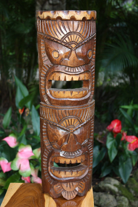Beautiful Happiness & Health Tiki Mask 24"