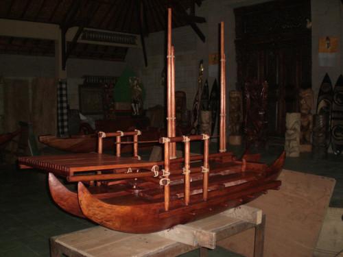 "Hokulea Replica Double Hull Canoe 80"" X 48"" | #bla6053"