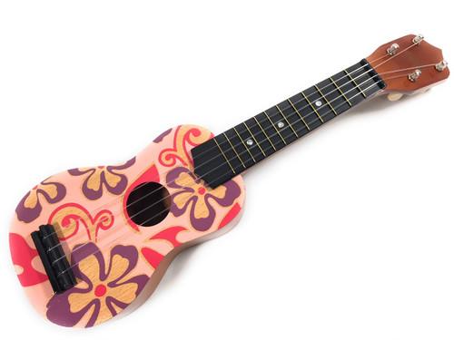 "Ukulele - Pink and Purple Hibiscus Aloha Floral Print 18""   #kc41055"