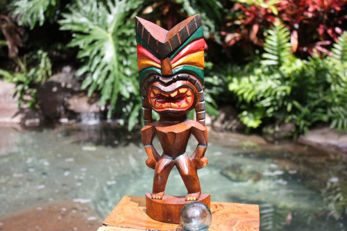 "Love Tiki God 16"" - Hand Carved - Hawaii Treasure"