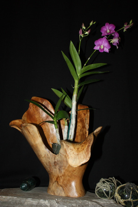 "Wooden Vase Rustic Bowl Sculpture 19"" X 14"" X 16"" 