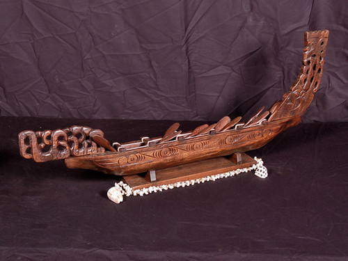 "WAKA CANOE 32"" - ACACIA KOA - NEW ZEALAND WAR CANOE"