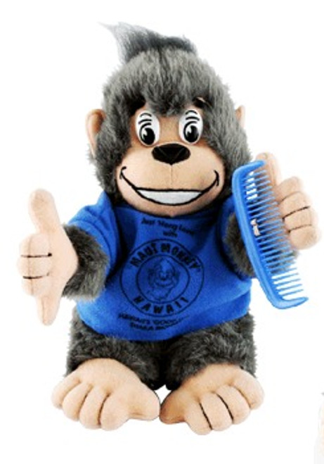 "BLUE SHIRT ""MAKA"" MAUI MONKEY PLUSH - BABY TOYS"