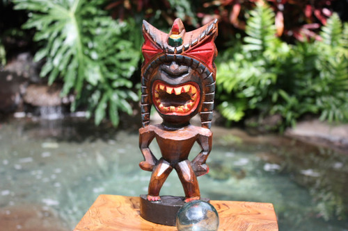 "Money Tiki God 12"" - Hand Carved - Hawaii Treasure"