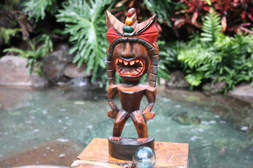 "Money Tiki God 16"" - Hand Carved - Hawaii Treasure"
