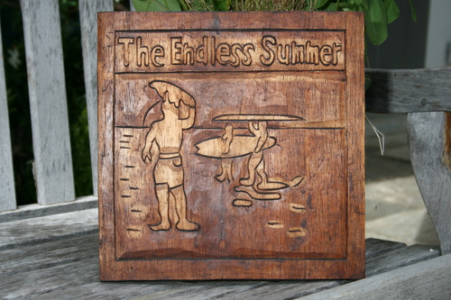 """ENDLESS SUMMER"" HAND CARVED RELIEF - SURF DECOR"